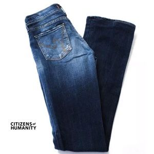 CITIZENS OF HUMANITY Blue 'Kelly' Boot Cut Jeans